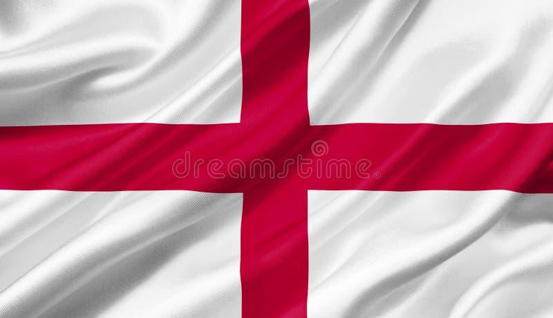 De vlag die van Engeland met de wind, 3D illustratie golven stock illustratie