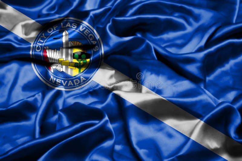 De vlag die van Las Vegas, Nevada in de wind golven De Verenigde Staten van Amerika stock illustratie