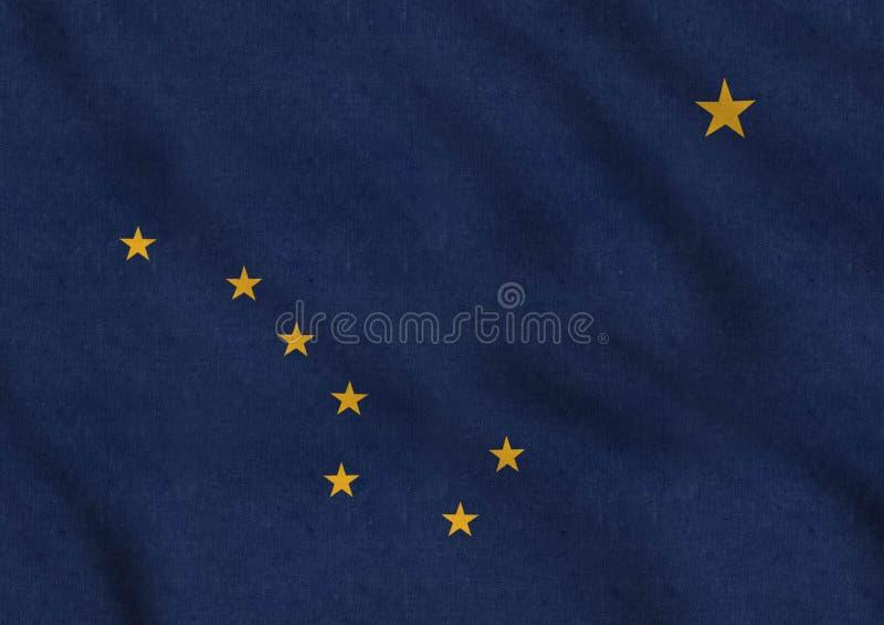 De Vlag die van de V.S. van Alaska zacht in de wind golven royalty-vrije illustratie