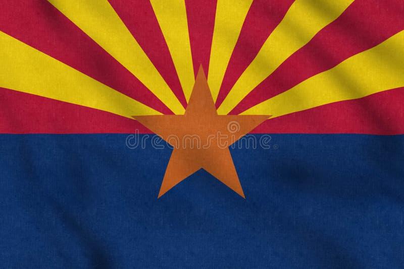 De Vlag die van de V.S. van Arizona zacht in de wind golven jpg vector illustratie