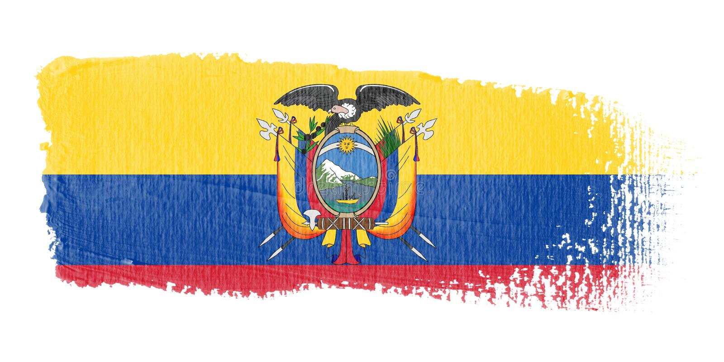 De Vlag Ecuador van de penseelstreek