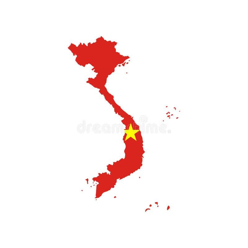 De vlag en de kaart van Vietnam vector illustratie