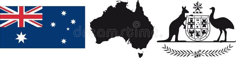De Vlag en het symbool van Australië