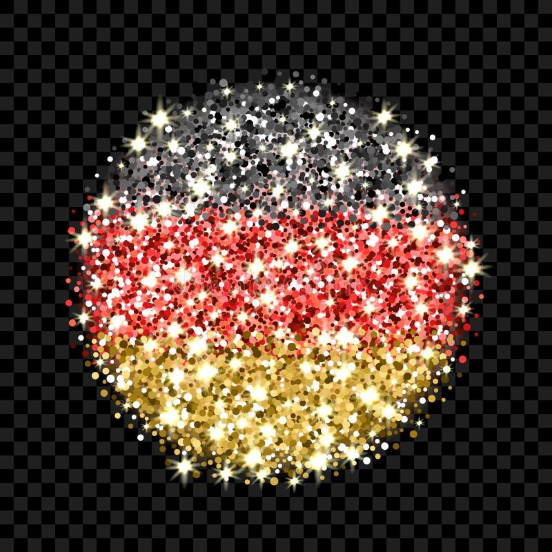 De vlag fonkelend kenteken van Duitsland stock illustratie