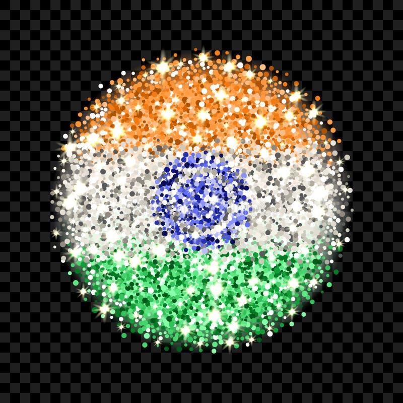 De vlag fonkelend kenteken van India royalty-vrije illustratie