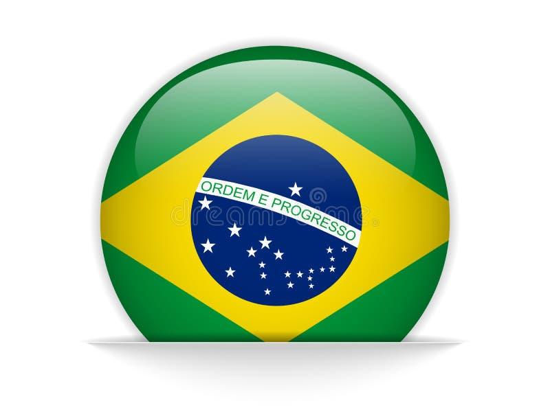 De Vlag Glanzende Knoop van Brazilië vector illustratie