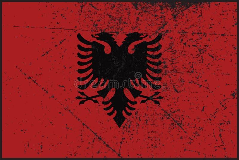 De Vlag Grunged van Albanië royalty-vrije illustratie