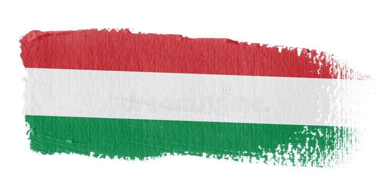 De Vlag Hongarije van de penseelstreek