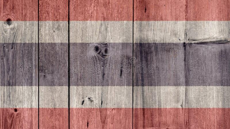 De Vlag Houten Omheining van Thailand stock foto