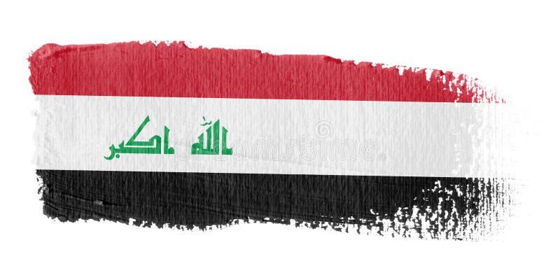 De Vlag Irak van de penseelstreek royalty-vrije illustratie