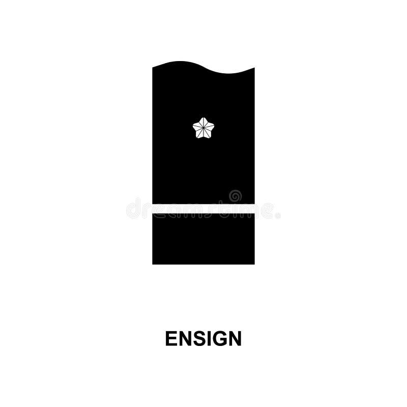 de vlag militair rangen van Japan en insignes glyph pictogram vector illustratie