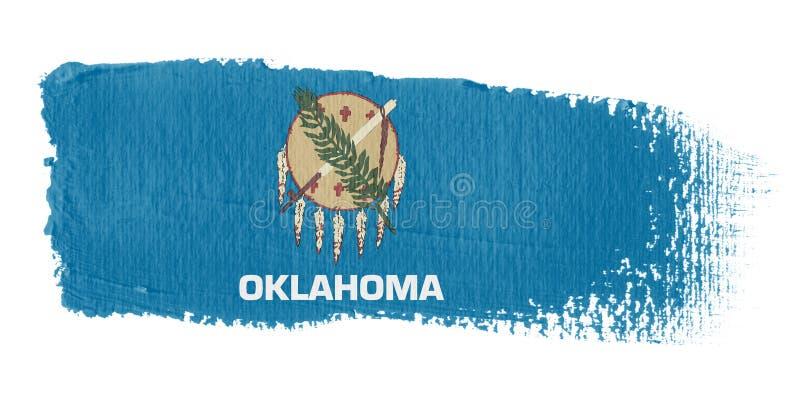 De Vlag Oklahoma van de penseelstreek royalty-vrije illustratie