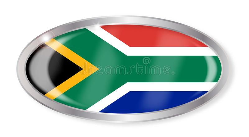 De Vlag Ovale Knoop van Zuid-Afrika royalty-vrije illustratie