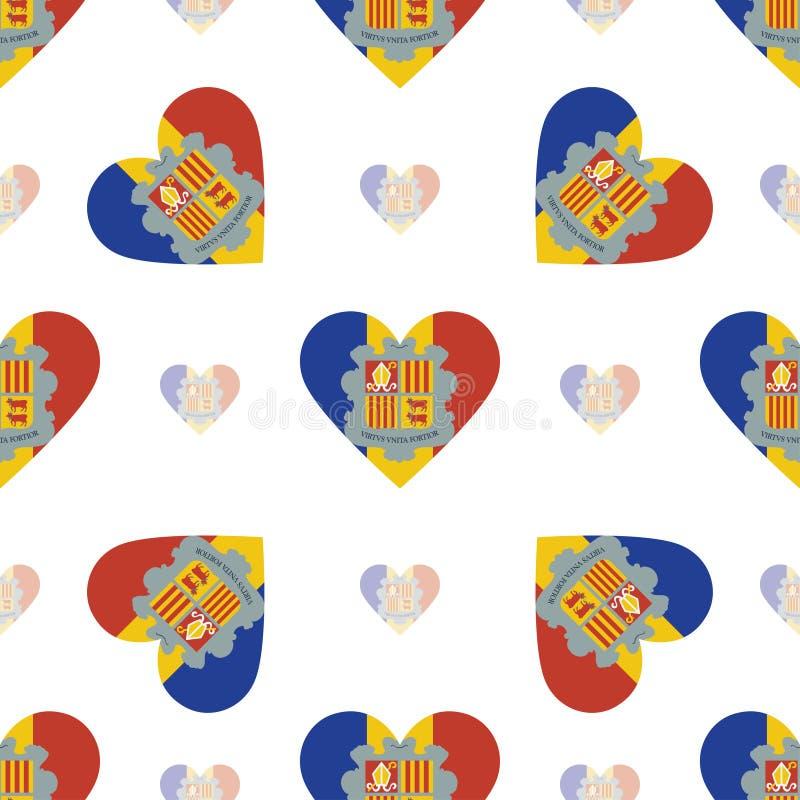 De vlag patriottisch naadloos patroon van Andorra vector illustratie