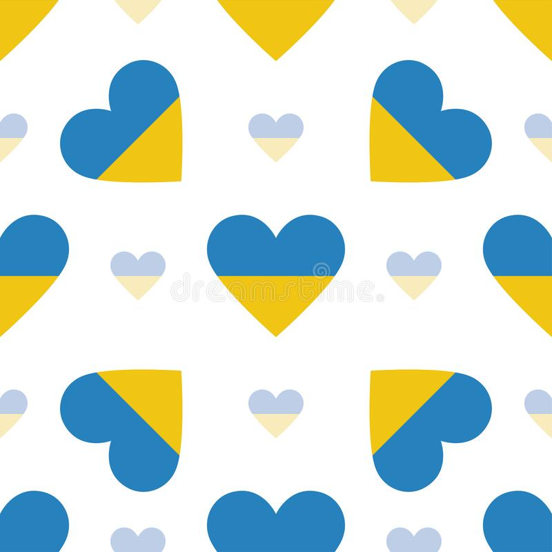De vlag patriottisch naadloos patroon van de Oekraïne vector illustratie