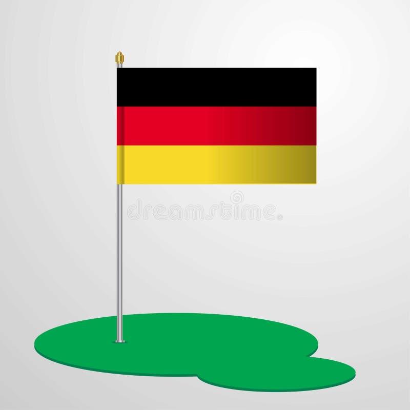 De Vlag Pool van Duitsland royalty-vrije illustratie