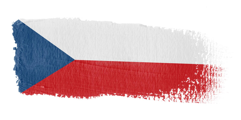 De Vlag Tsjechische Republi van de penseelstreek vector illustratie