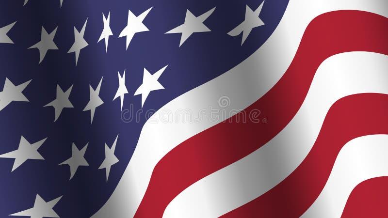 De vlag van achtergrond Amerika inzameling Het golven ontwerp Verhouding 16: 9 vierde van juli-het concept van de Onafhankelijkhe royalty-vrije illustratie
