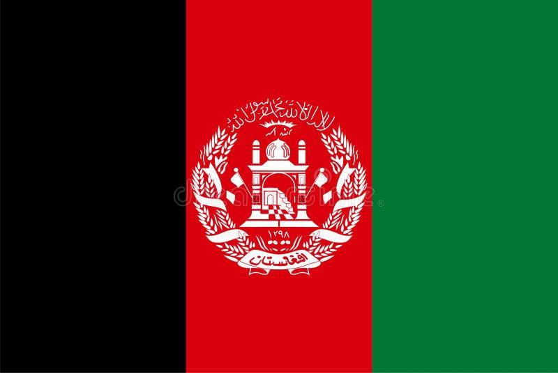 De vlag van Afghanistan