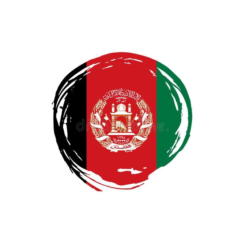 De vlag van Afghanistan, vectorillustratie stock illustratie