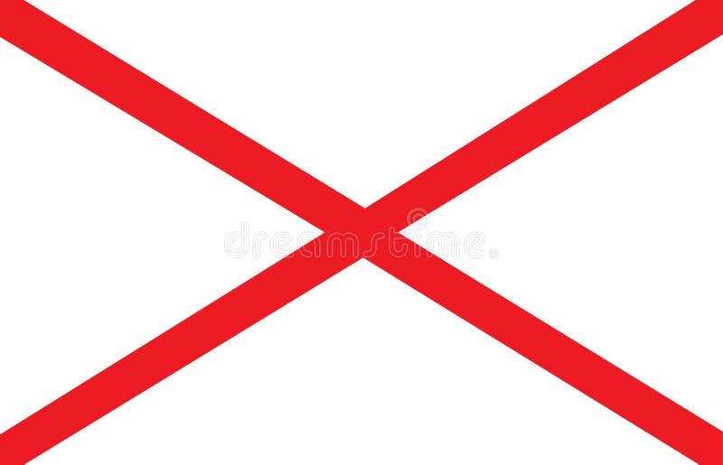 De vlag van Alabama stock illustratie