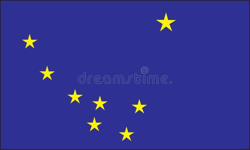 De vlag van Alaska vector illustratie