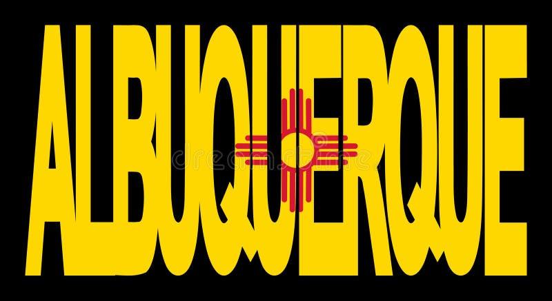De vlag van Albuquerque New Mexico stock illustratie