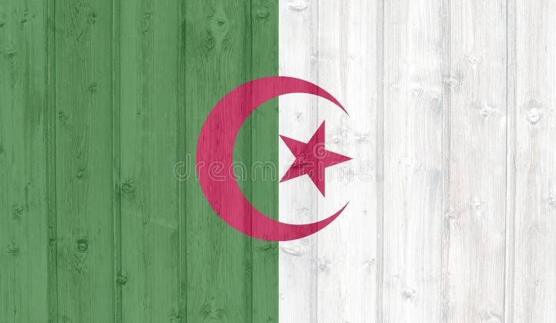 De Vlag van Algerije stock illustratie