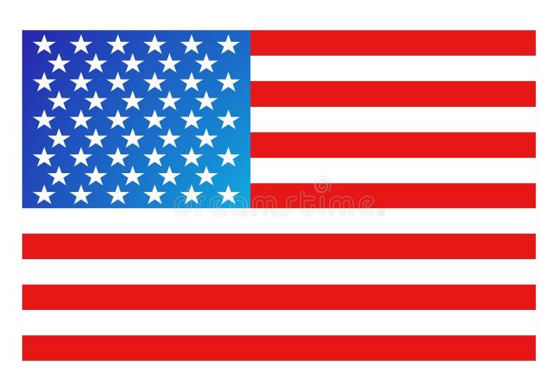 De Vlag van Amerika vector illustratie