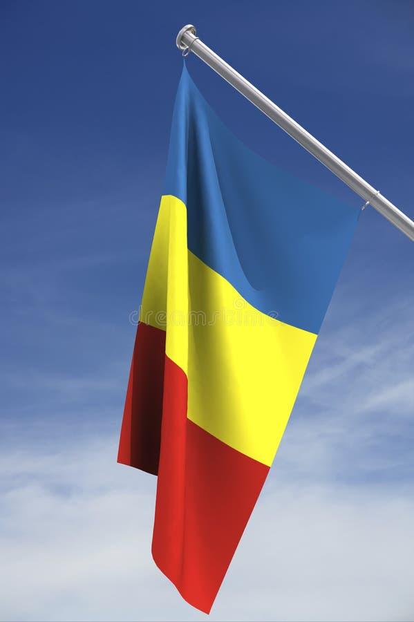 De vlag van Andorra vector illustratie