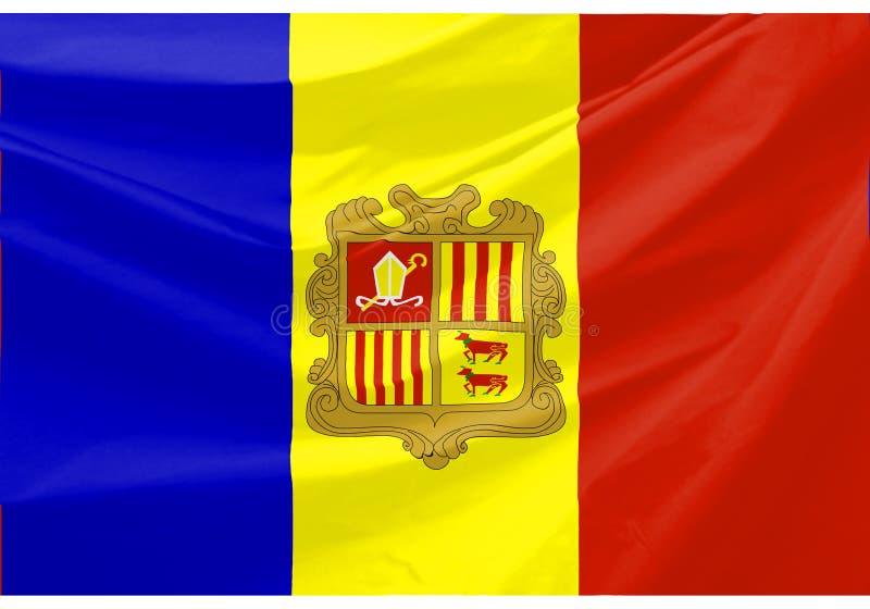 De Vlag van Andorra royalty-vrije illustratie