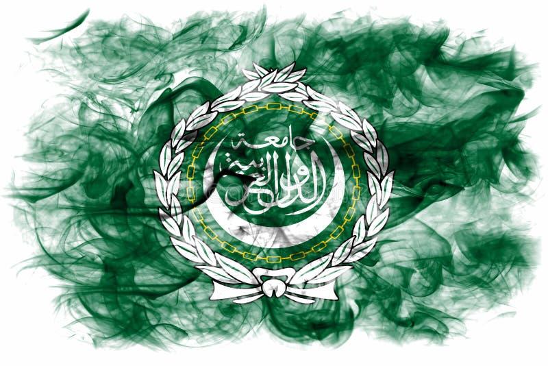 De vlag van de Arabische Ligarook, regionale organisatie van Arabische staten vector illustratie
