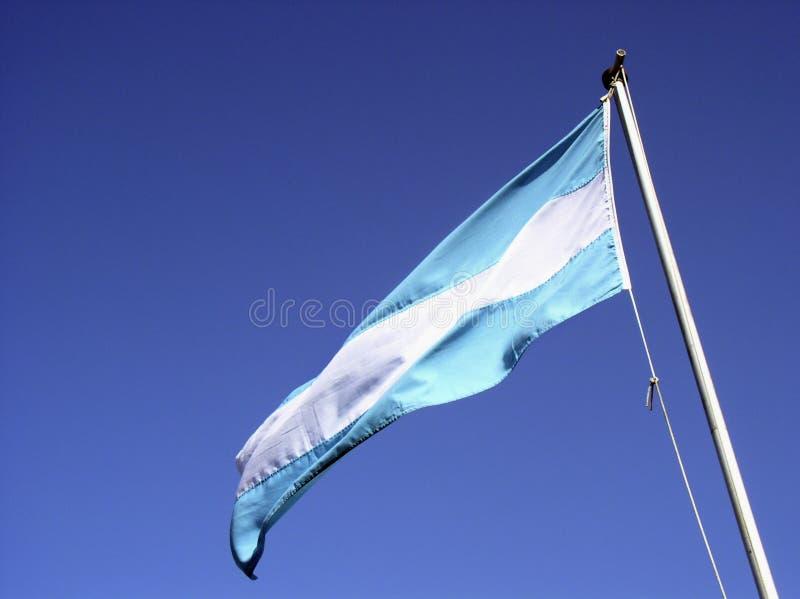 De Vlag Van Argentinië Stock Foto's