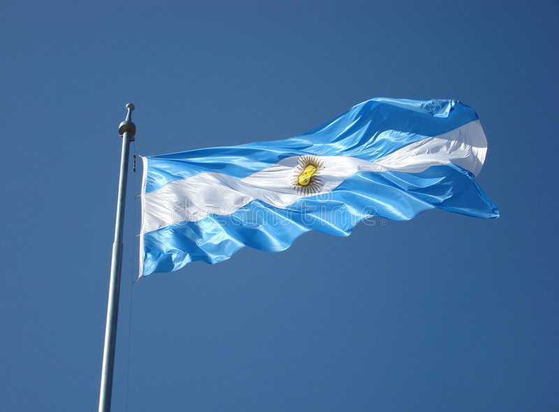 De Vlag van Argentinië royalty-vrije stock foto's