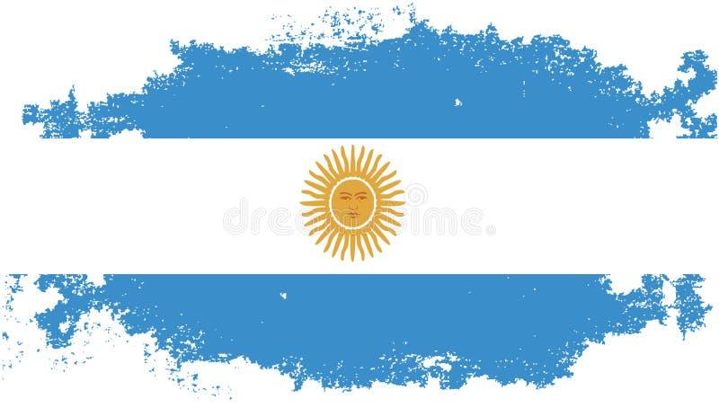 De vlag van Grungeargentinië stock illustratie