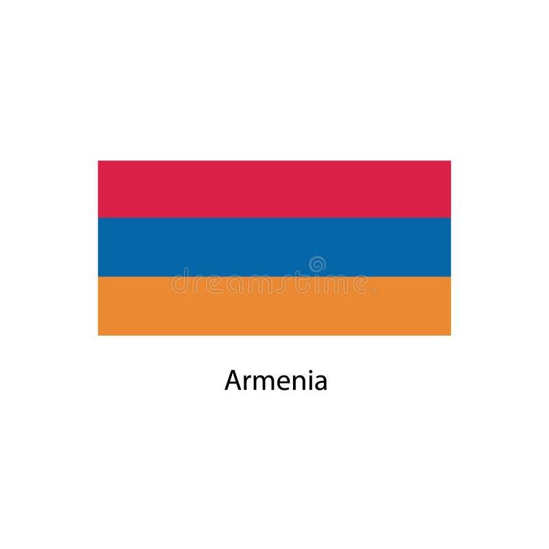 De Vlag van Armenië Officieel kleuren en aandeel correct Nationale vlag van Armenië De Vlag vectorillustratie van Armenië royalty-vrije illustratie