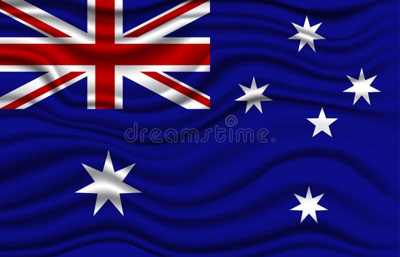 De Vlag van Australië royalty-vrije stock afbeelding