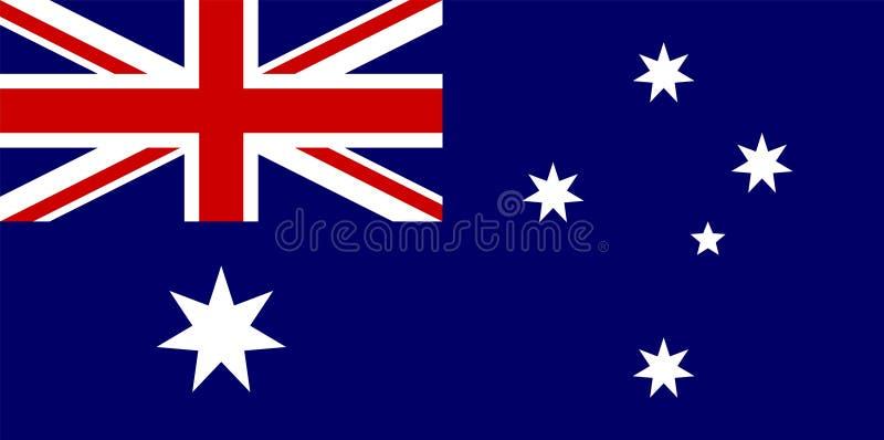 De Vlag van Australië vector illustratie