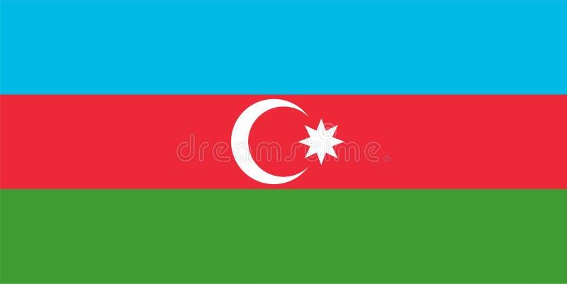 De vlag van Azerbeidzjan stock illustratie