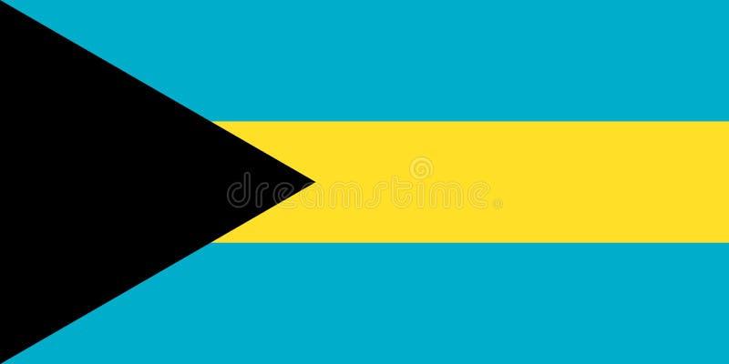 De Vlag van de Bahamas Nationaal symbool van de staat Vectorillust vector illustratie