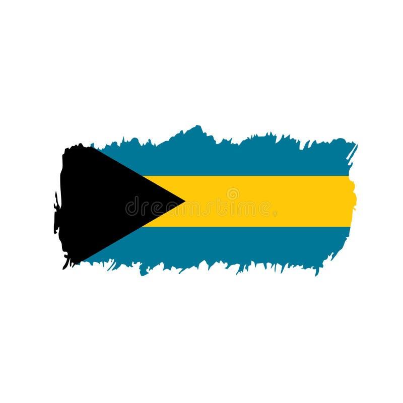 De vlag van de Bahamas, vectorillustratie stock illustratie
