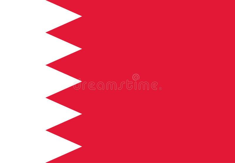 De vlag van Bahrein royalty-vrije illustratie