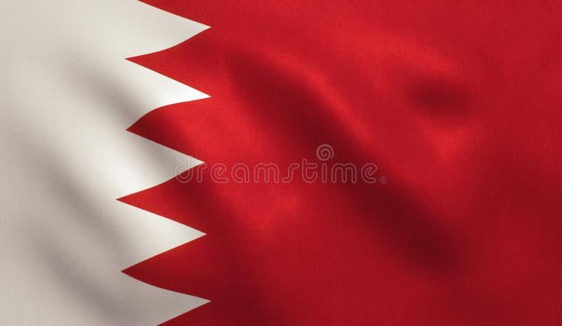 De vlag van Bahrein stock illustratie