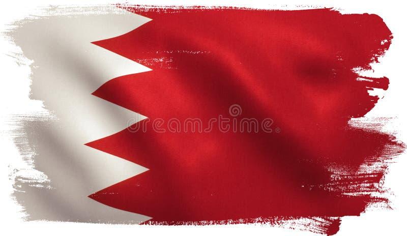 De vlag van Bahrein vector illustratie
