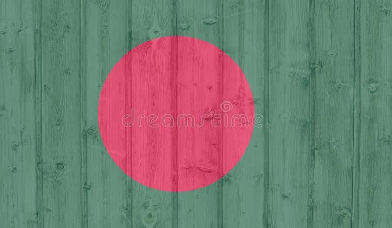 De Vlag van Bangladesh vector illustratie