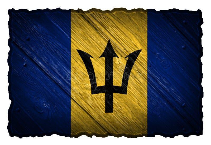 De Vlag van Barbados stock afbeeldingen