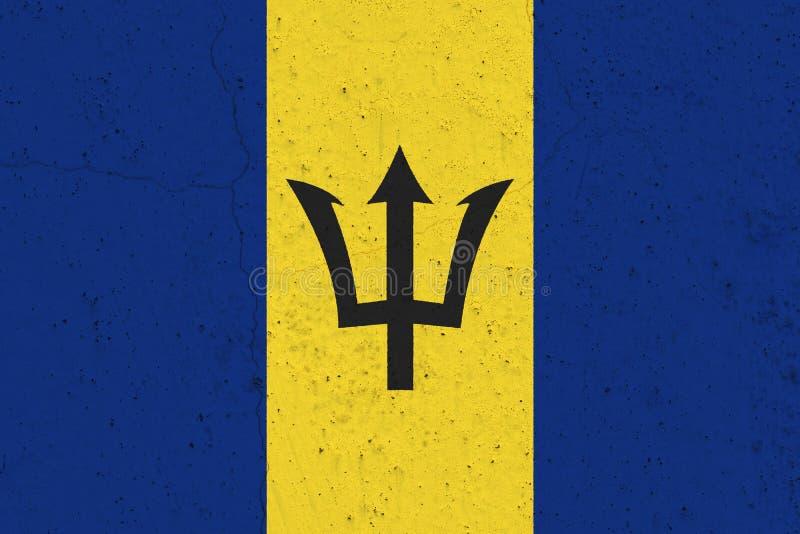 De vlag van Barbados op concrete muur royalty-vrije stock foto