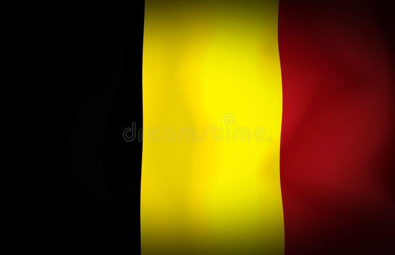 De Vlag van België royalty-vrije illustratie