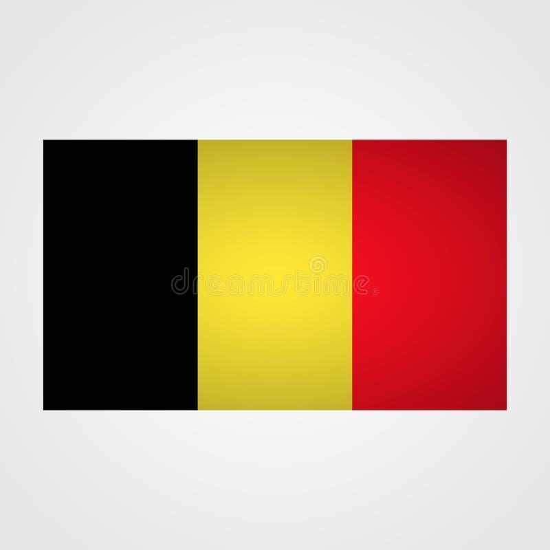 De vlag van België op een grijze achtergrond Vector illustratie vector illustratie