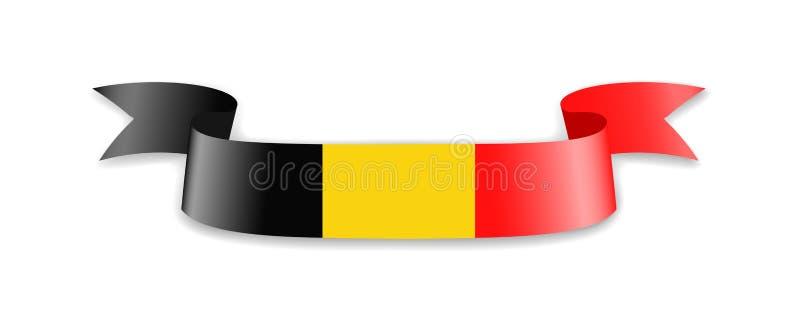 De vlag van België in de vorm van golflint stock illustratie